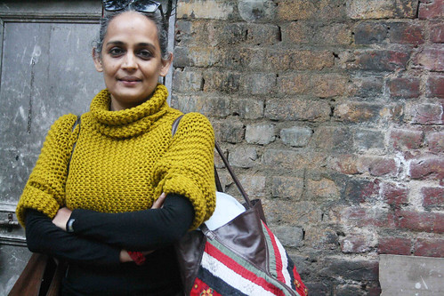 City Sighting - Arundhati Roy, Hauz Khas Village