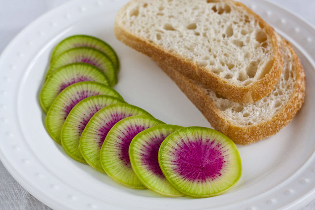 ... Garlic: Tradition: Sourdough with Butter, Watermelon Radish, and Salt