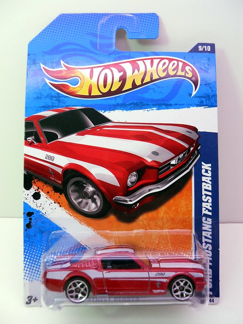 hot wheels ford mustang fastback red (1)