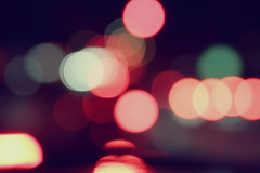 Bokeh (christian frarey) Tags: camera light color car night photoshop canon circle photography eos photo scenery shiny colorful driving bright random bokeh sphere 7d blob process blobs