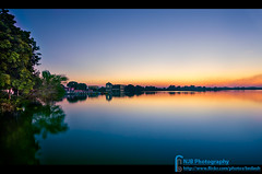 The Serene Lake (bnilesh) Tags: sunset sky india lake water night landscape serene indore waterscape nanded kaleshawar