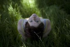 Michelle [explored] (Brendan_Timmons) Tags: summer portrait blur cute girl grass eyes pretty dof dress gaze 50mmf14 canon5dmkii