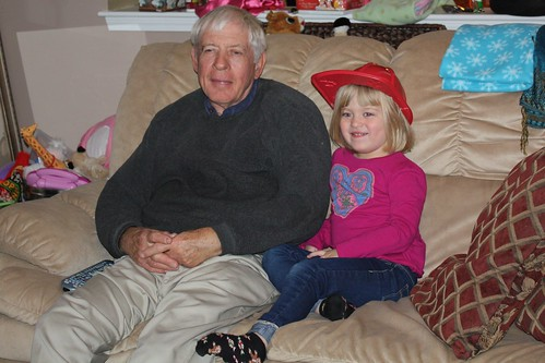 Pop-Pop & Catie chilling together