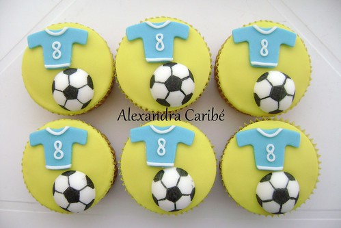 Cupcakes futebol - Soccer cupcakes