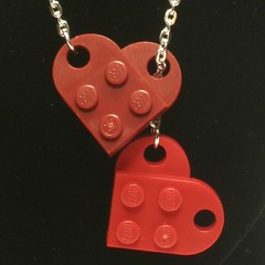 Two Hearts Lariat Necklace (au_riverhorse) Tags: hearts necklace lego jewelry lariat etsy