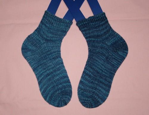jeans blue rib socks 2010-#24