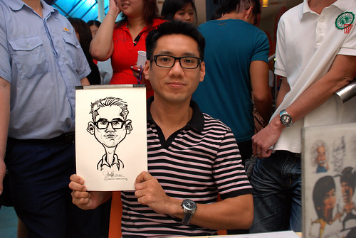 Caricature live sketching for BAT White Christmas Party 2010 - 16