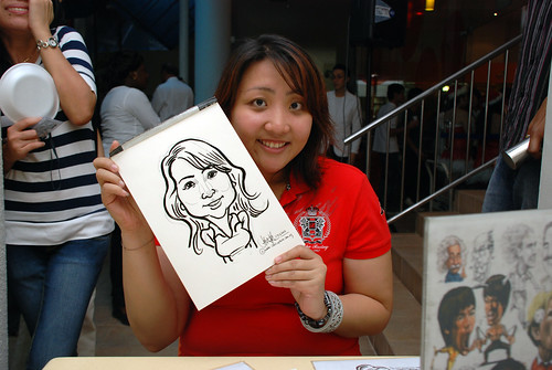 Caricature live sketching for BAT White Christmas Party 2010 - 25