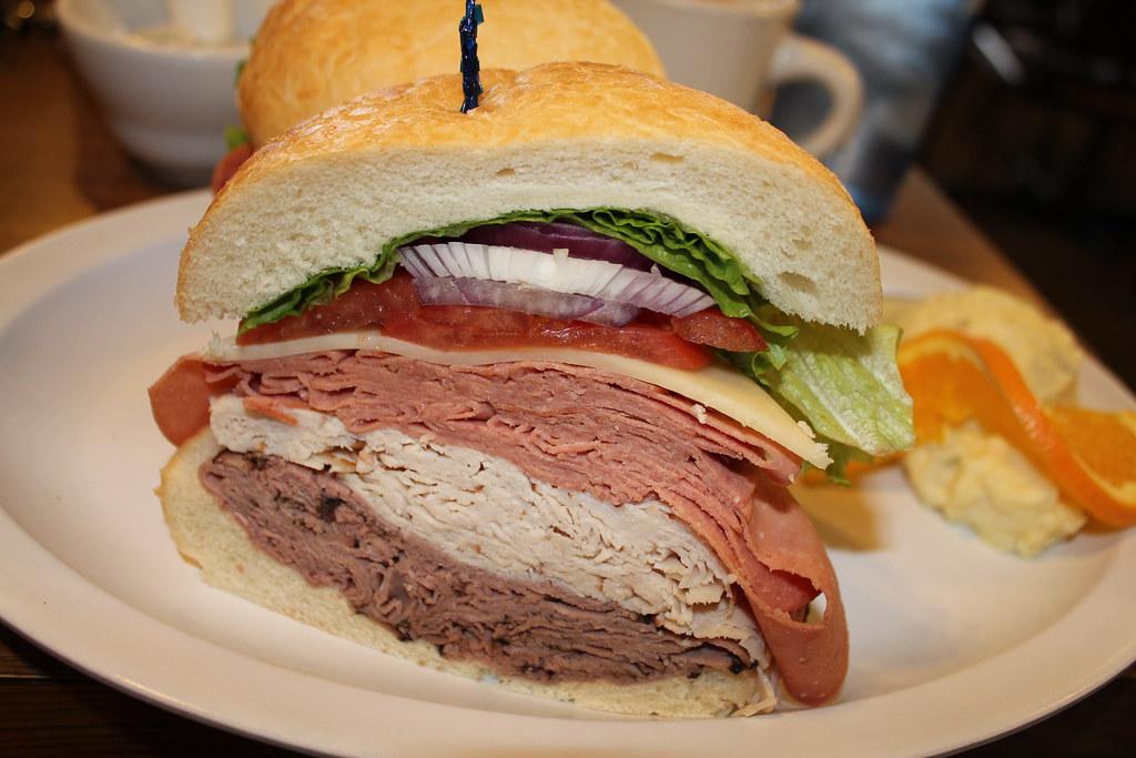 Sandwich from The Bagel deli