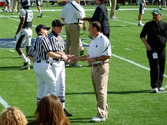 Coach Dantonio shaking hands with the refs (imacericg) Tags: football coach bowl citrus michiganstate capitalonebowl spartan dantonio michiganstatespartans msufootball michiganstatefootball floridacitrusbowl markdantonio