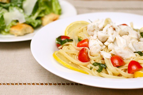 Crab Linguine with Lemon and Basil