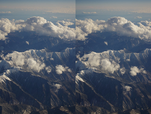 Mount Chausu, stereo parallel view