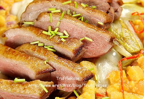 煎鴨胸佐吉康菜和柿子 Chutney-110104