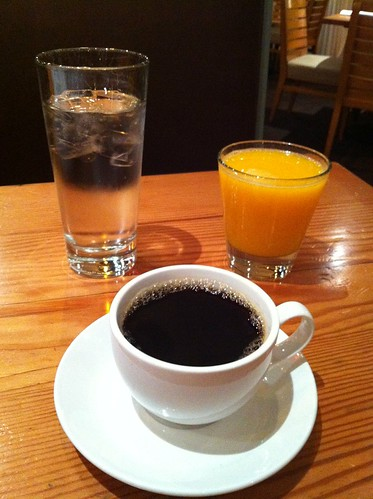 Water, OJ & Coffee