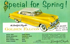 1954 Chrysler Golden Falcon (aldenjewell) Tags: golden spring postcard 1954 special falcon chrysler