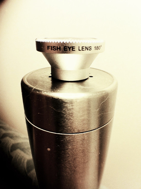 a picture of my new iPhone fisheye lens taken with my new iPhone macro/wide angle lens
