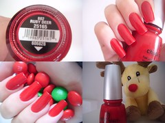 Ruby Deer , China Glaze (Lady_Yaya) Tags: nails nailpolish unahs redpolish esmaltevermelho chinaglaze rubydeer tistheseasontobenaughtyandnice