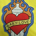 baby love Tattoo baby blanket