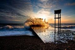 Brighton Seaside Sunset (8/365) (Rob Webb.) Tags: sunset waves splash canon50d tokina1116