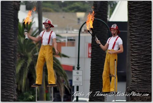 Buskers posing as firemen: day 9