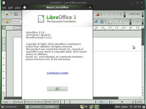 LibreOffice 3.3 dans OpenSuSE 11.4m5