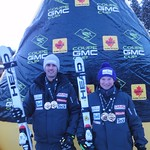 Ford Swette and Jocelyn Ramsden win two GS races each at Lake Louise GMC Cup Event