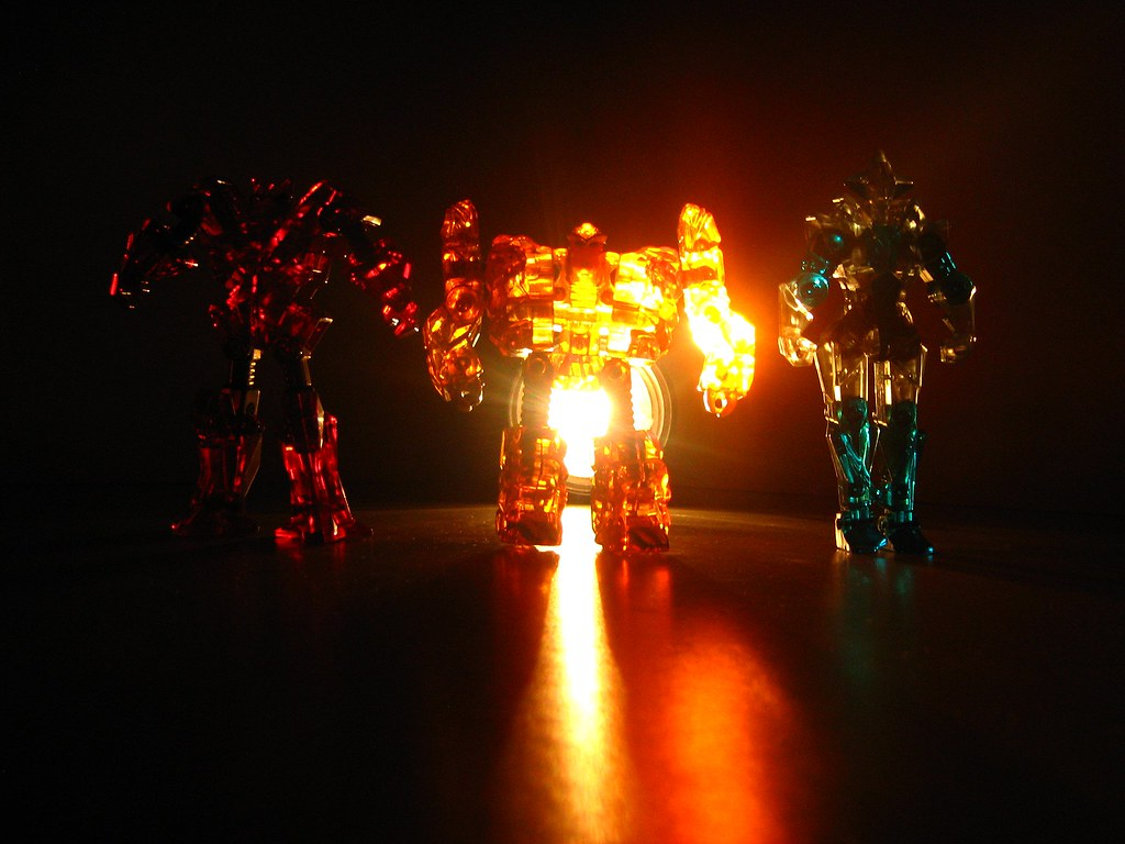 Bandai Toys - Rock Lords (Jewel Lords): On the Left Is Flamestone: In the Middle Is Sunstone: On the Right Is Solitaire - 11 of 12