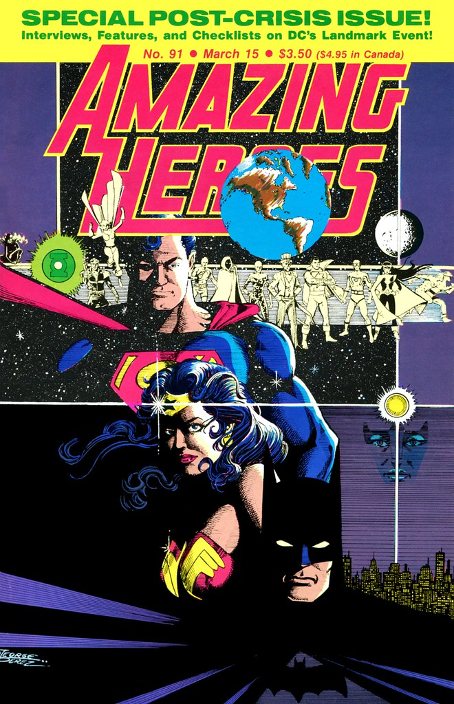 Amazing Heroes 91 Crisis cover by George Perez 1986