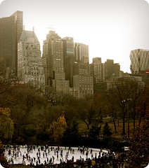 Little Old Manhattan (RaZ...) Tags: city nyc newyorkcity travel trees winter people urban tree green sepia geotagged photography photo skyscrapers centralpark manhattan raz