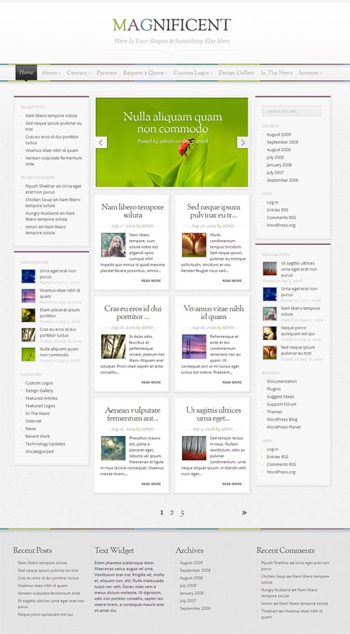 magnificent-wordpress-theme