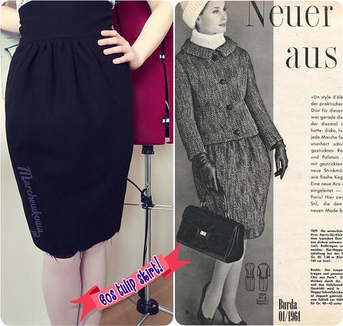 szafiarka, 60s, tulip skirt, Burda 10/2010, model 115, 10-2010-115, szycie, wykroje, patterns, maszyna z Lidla, Silver Crest