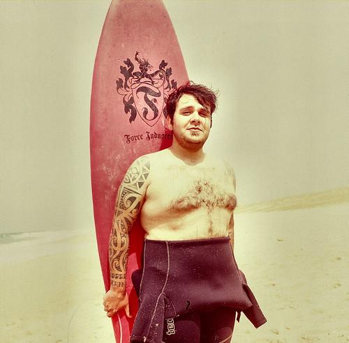 tatoo surfer maori