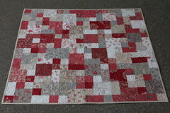 Valentine Quilt (Modern Quilting by B) Tags: quilt heart echo valentine frenchgeneral