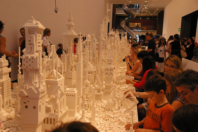 lego city interactive installation at GoMA