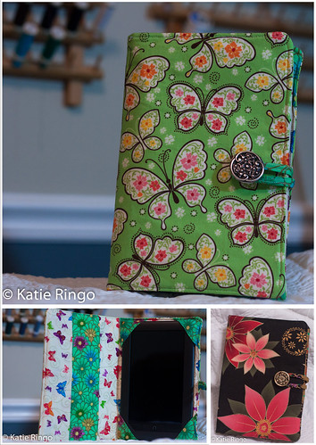 Etsy listing - custom e-reader covers for Kindle Nook or iPad