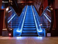To The Top (.ღ♫°Qanas°♫ღ.) Tags: new blue light brown art up canon photography jan pov top empty central machine explore to abu dhabi success souq qanas rashed 2011 intresting 20fav 40fav ledder 60fav 80fav alzaabi