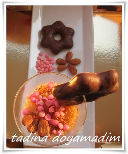 bardakta  meyveli çikolatalı kadayıf