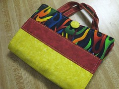crayon tote outside