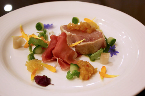 Albacore Tuna and Niagara Prosciutto
