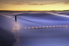 Alluvion (maxxsmart) Tags: sanfrancisco longexposure winter color fog sunrise goldengatebridge marinheadlands californa northtower 2011 crazybeautiful thankspatrick canon5dmarkii lee6hardedgendgrad