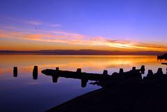 Salton Sea - Bombay Beach Sunset (RuggyBearLA) Tags: california sunset sea cloud color reflection beach bombay salton