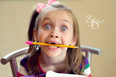 Homework Confusion (Kidzmom2009) Tags: silly cute pencil blueeyes angry confused schoolwork frustrated beingsilly doinghomework gettyimageswant kidzmom2009 gettyimageswants gettywants familygetty2010 kfsphotography defianttoddlers girlwithpencilinmouth
