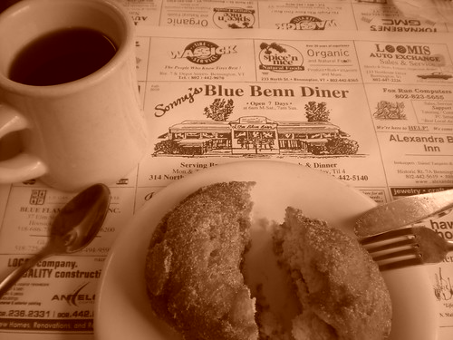 Blue Benn Diner coffee and doughnut old fashoined