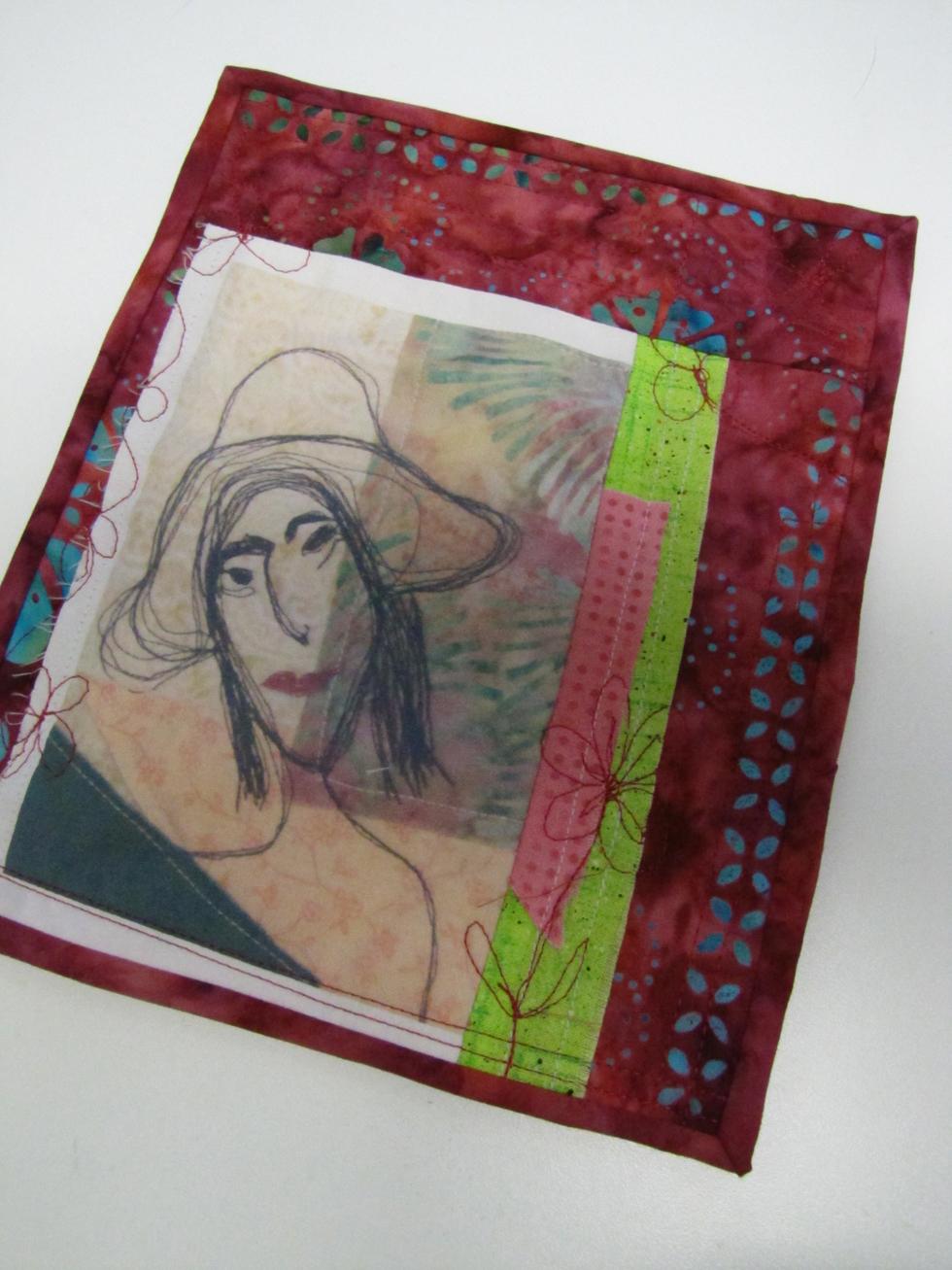Grandmother's flower garden -  journal quilt