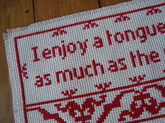 tonguedetail (jane loveday) Tags: crossstitch subversive
