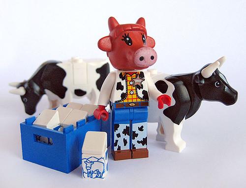 Custom minifig Milk cow