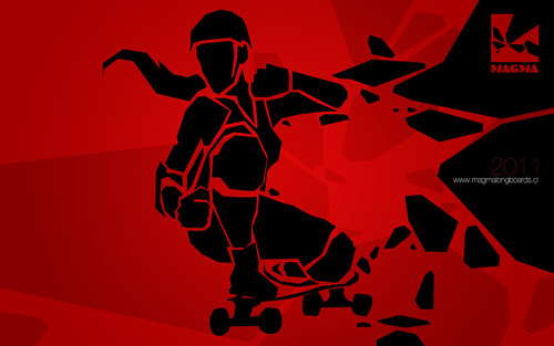 longboard wallpaper. MAGMA - wallpaper 01