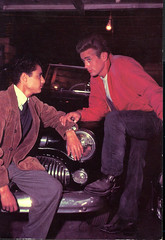 Sal and James (S_Crews) Tags: postcard jamesdean salmineo rebelwithoutacause