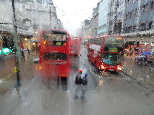 2011 A London Bus and Rain (Source: Darla Hueske)