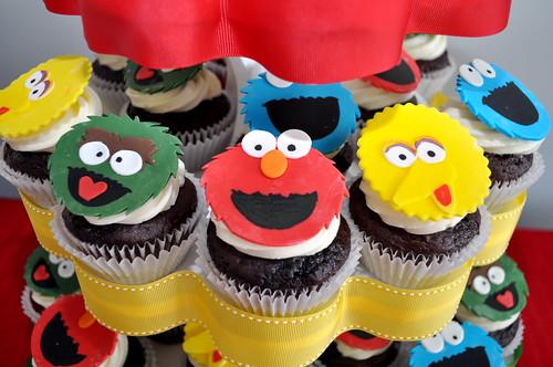 Sesame Street Character Cupcakes